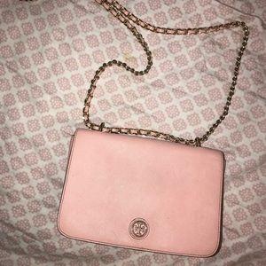 Tory Burch light pink handbag